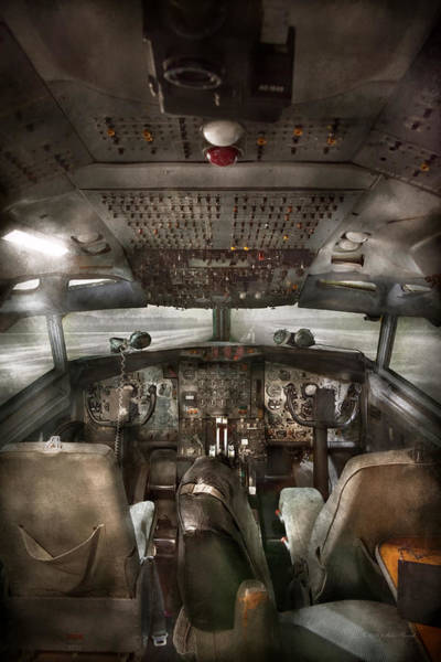 Photograph - Pilot - Boeing 707  - Cockpit - We Need A Pilot Or Two by Mike Savad