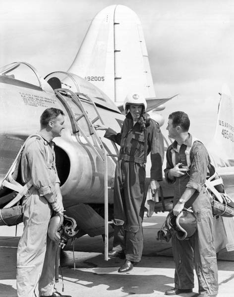 Dayton Photograph - Pilot Chuck Yeager by Underwood Archives
