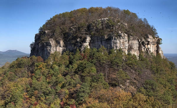 Photograph - Pilot Mountain In Fall Pano 3 by Patrick M Lynch