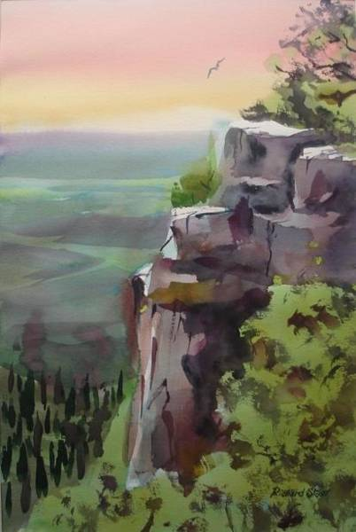 Wall Art - Painting - Pilot Mountain by Richard Staat