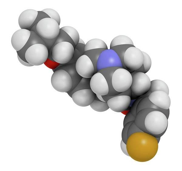 Molecular Wall Art - Photograph - Pimavanserin Molecule by Molekuul/science Photo Library