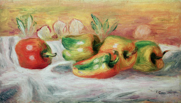 Veggies Painting - Pimientos by Pierre Auguste Renoir