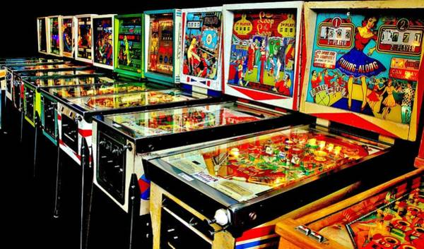 Game Room Photograph - Pinball Alley by Benjamin Yeager