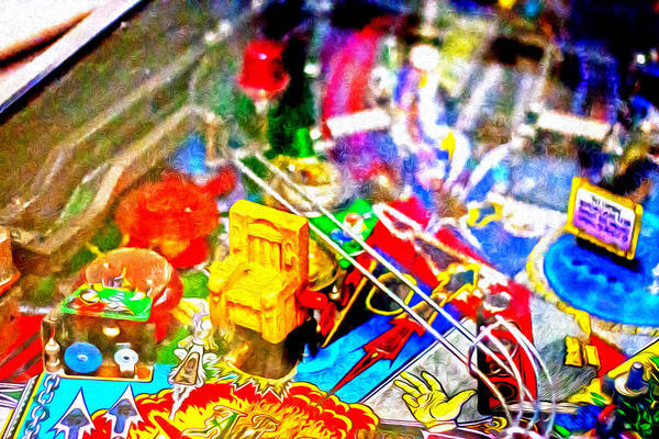 Pinball Digital Art - Pinball Guts by Troy Cooper