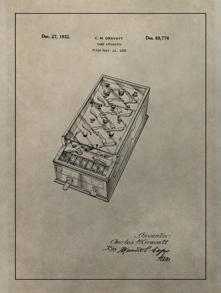 Toy Mixed Media - Pinball Machine Patent by Dan Sproul