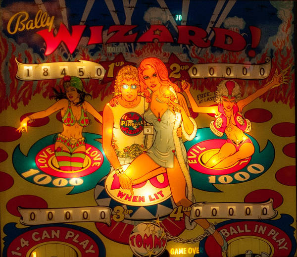 Photograph - Pinball Wizard Tommy Vintage by Terry DeLuco