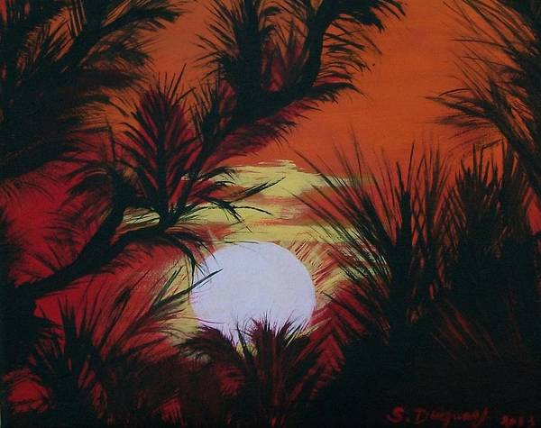 Pine Needles Painting - Pine Branch Silhouette by Sharon Duguay
