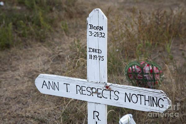 Photograph - Pine Ridge Cemetery by Jim West