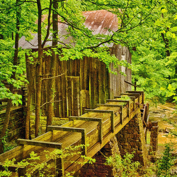 Millrace Wall Art - Photograph - Pine Run Mill by Priscilla Burgers