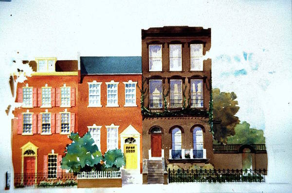 Painting - Pine Street Circa 1984 by William Renzulli