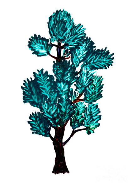 Wax Painting - Pine Tree Painting Isolated by Simon Bratt Photography LRPS