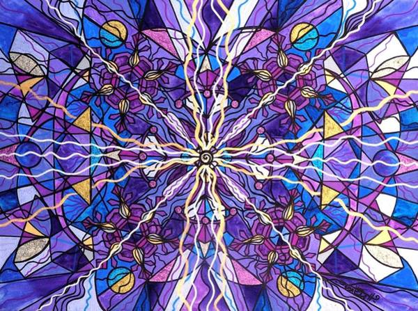 Mandala Wall Art - Painting - Pineal Opening by Teal Eye Print Store