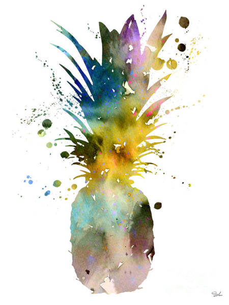 Fruit Wall Art - Painting - Pineapple 2 by Watercolor Girl