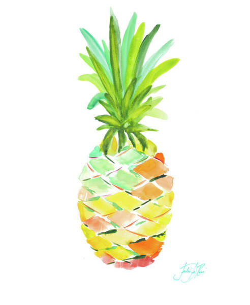 Fruit Wall Art - Painting - Pineapple I by Julie Derice