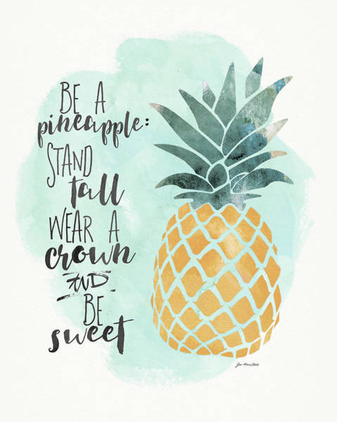 Pineapple Painting - Pineapple by Jo Moulton