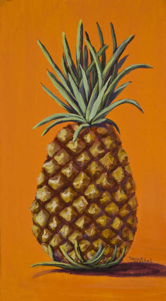 Painting - Pineapple On Orange by Darice Machel McGuire