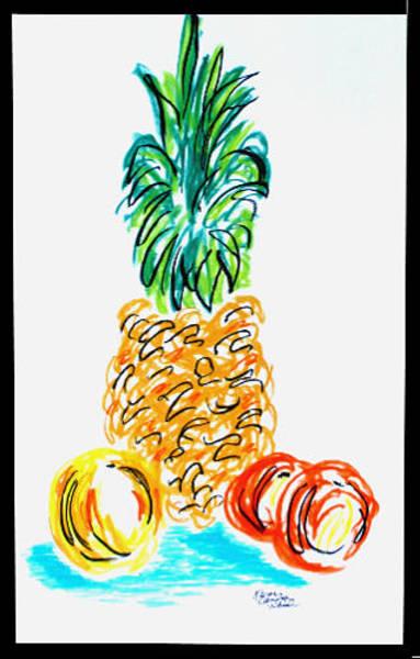 Pastel - Pineapple Study No. 1 by Karen Camden Welsh