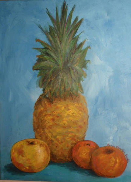 Painting - Pineapple Study No 2 by Karen Camden Welsh