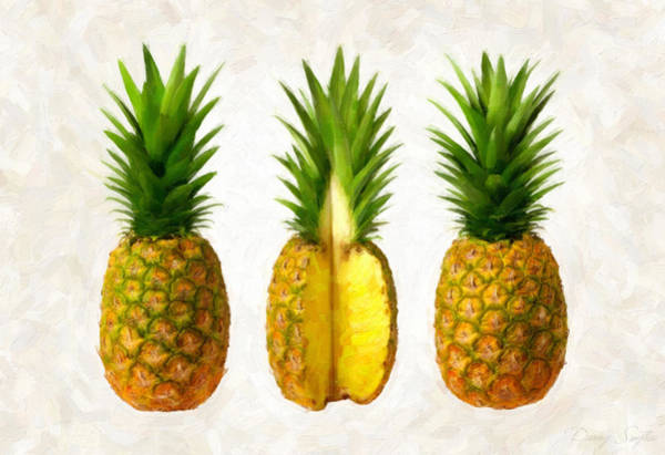 Wall Art - Painting - Pineapples by Danny Smythe