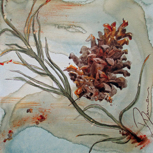 Painting - Pinecone by Dawn Derman