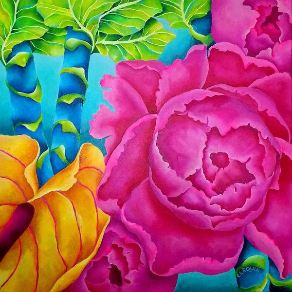 Wall Art - Painting - Pingk1 by Elizabeth Elequin