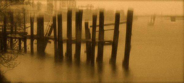 Pinholed Pier Art Print