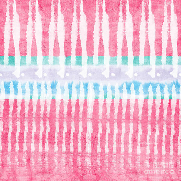 Pink Painting - Pink And Blue Tie Dye by Linda Woods