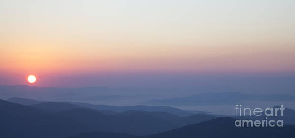 Photograph - Pink And Orange Sunrise Over The Blue Ridge Mountains by Jo Ann Tomaselli