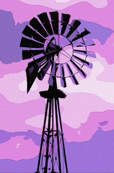 Wind Vane Digital Art - Pink And Purple by Brian Stevens