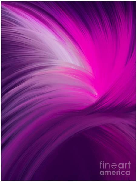 Pink And Purple Swirls Art Print