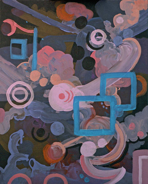 Coolidge Painting - Pink And Teal Abstract 1 by Sara Coolidge