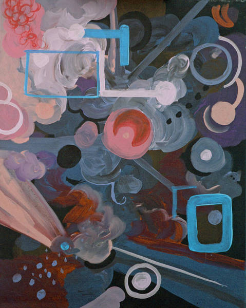 Coolidge Painting - Pink And Teal Abstract 2 by Sara Coolidge