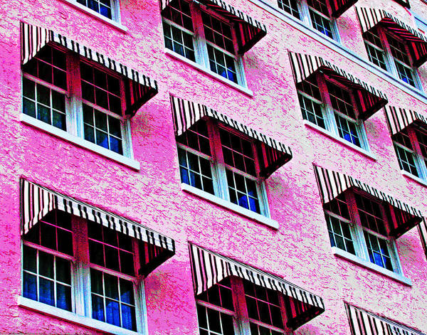 Photograph - Pink Awnings by Larry Oskin