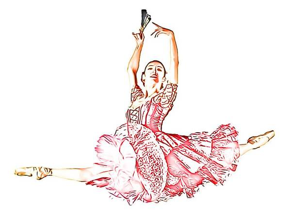 Digital Art - Pink Ballerina by Catherine Lott