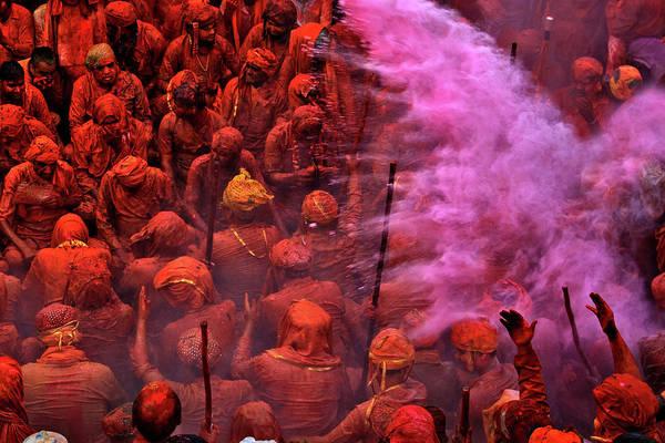 Holi Photograph - Pink Blast by Copyright Soumya Bandyopadhyay Photography