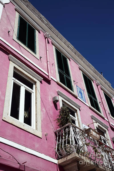 Wall Art - Photograph - Pink Building In Cascais by John Rizzuto