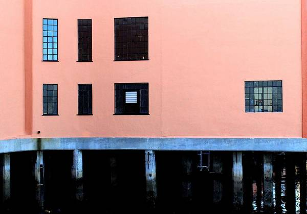Wall Art - Photograph - Pink Building On The Wharf by Eve Paludan