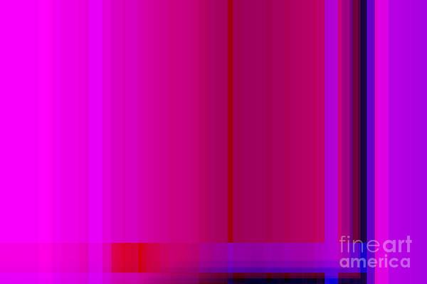 Front Room Digital Art - Pink Burgundy Purple Lines Abstract by Natalie Kinnear
