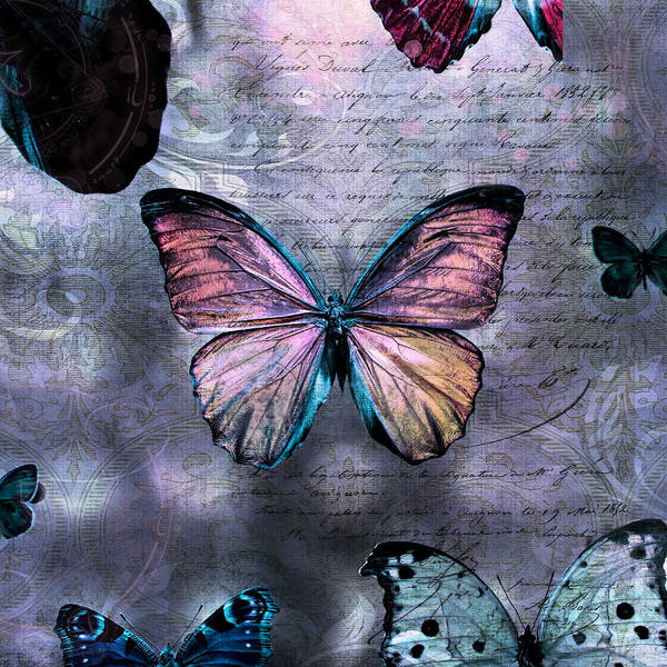 Photograph - Pink Butterflies by Evie Carrier