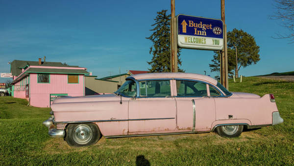 Absence Wall Art - Photograph - Pink Cadillac Diner, Natural Bridge by Panoramic Images