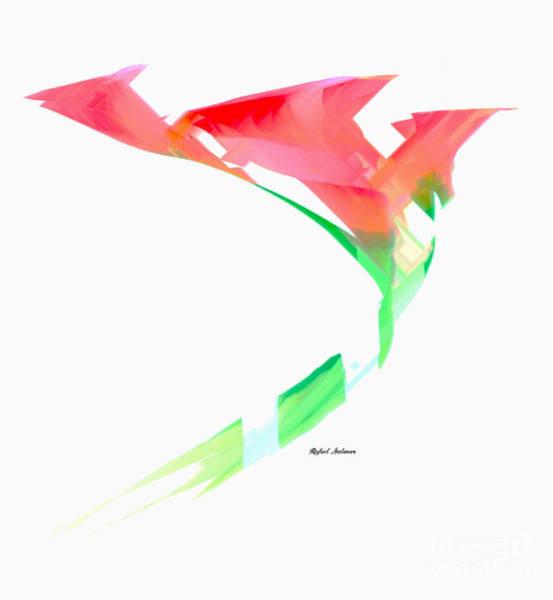 Digital Art - Pink Calla Lilies by Rafael Salazar