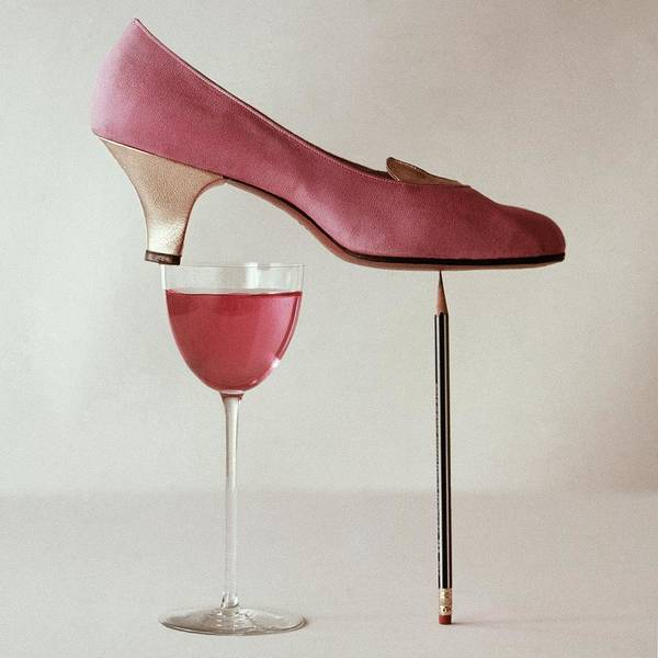 Wine Photograph - Pink Capezio Pump by Richard Rutledge