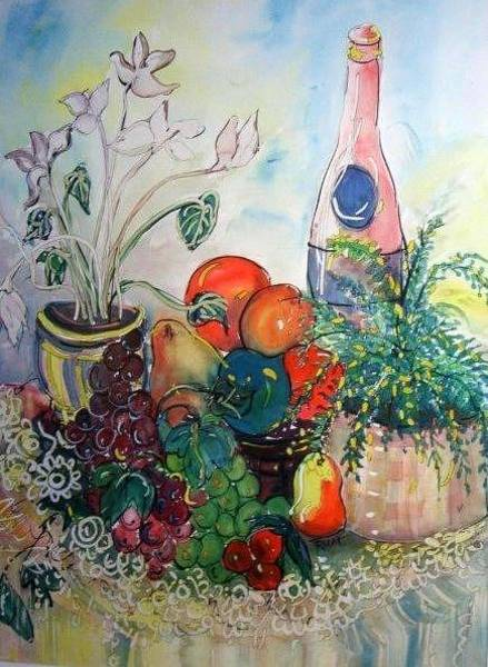 Pink Champagne Painting - Pink Champagne by Jean Rodak
