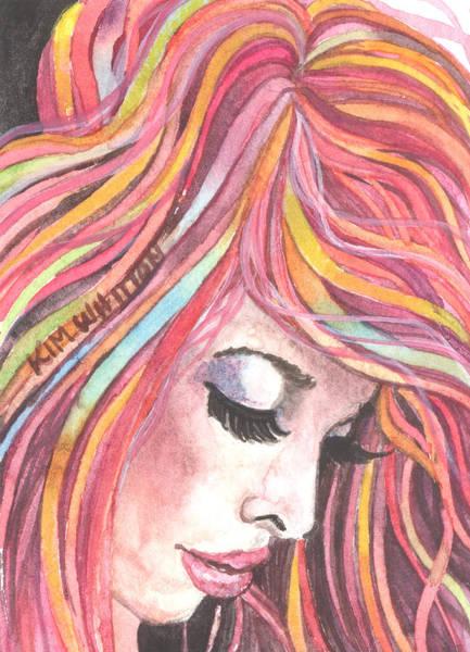 Neon Pink Painting - Pink Chiffon by Kim Whitton