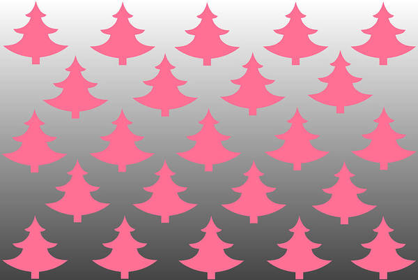 Christmas Card Digital Art - Pink Christmas by Chastity Hoff