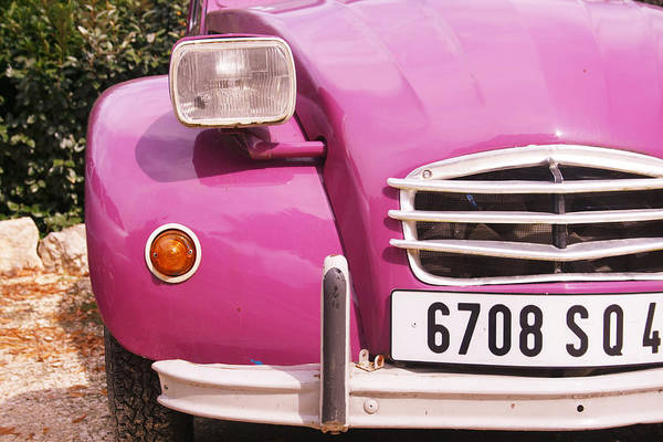 Cerise Photograph - Pink Citroen 2cv In France by Georgia Fowler