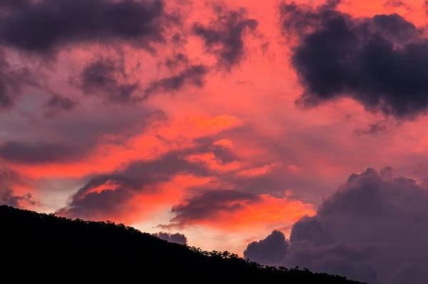 Grey Cloud Photograph - Pink Clouds After Sunset by K Jayaram
