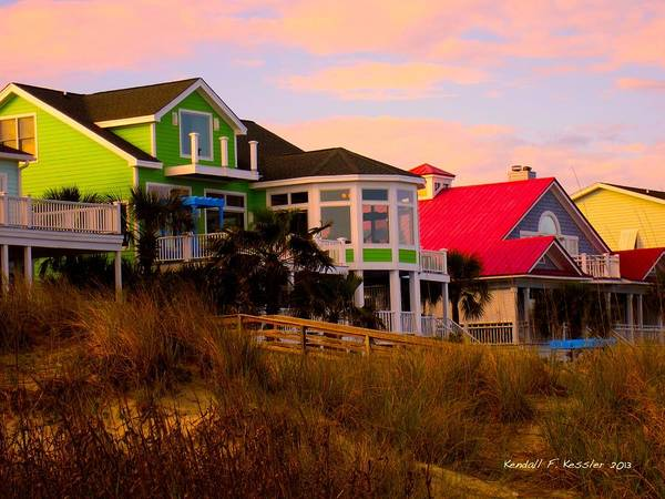 Photograph - Pink Clouds At Isle Of Palms by Kendall Kessler