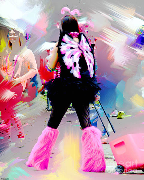 Digital Art - Pink Cooler Spanish Town Parade Baton Rouge by Lizi Beard-Ward