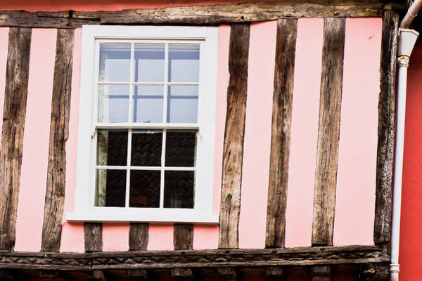 Wall Art - Photograph - Pink Cottage Wall by Tom Gowanlock